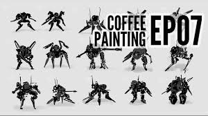 coffeepainting mecha thumbnail sketches youtube