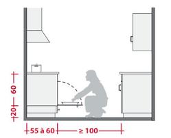 dimensions cuisine aménager l espace d une cuisine
