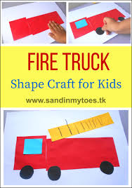 busy hands fire truck shape craft fire truck craft truck