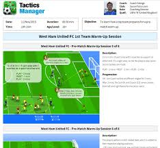 tactics manager soccer coaching software create your own