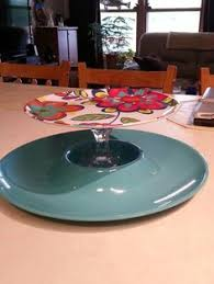 plates that stick to table 3 tier cookie plate lead crystal candle stick holders glued on to