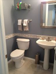 1 2 Bathroom Design Photos Delighful Modern Half Bathroom With Blue Granite Accent Wall To