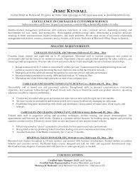 Sample Senior Management Resume Sample Car Salesman Resume