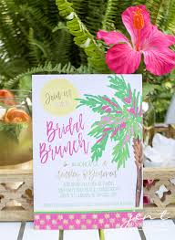 bridal brunch invite tropical bridal shower idea palm trees and paradise bridal brunch