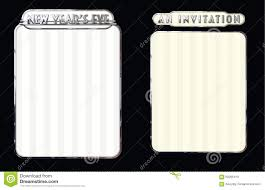 new years eve party invitation or menu stock illustration image