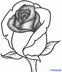 simple rose drawings in pencil for kids easy drawings of flowers