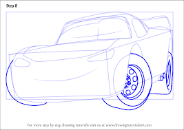 step by step how to draw lightning mcqueen from cars 3