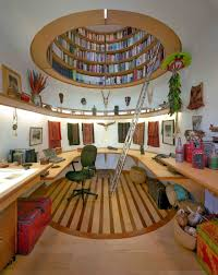 interior ideas unique modern brown finish wooden circle best home