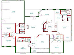 farmhouse style bed one story house plan best one story house