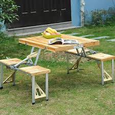 Folding Picnic Table To Bench Wooden Picnic Table Bench Seat Outdoor Portable Folding Camping