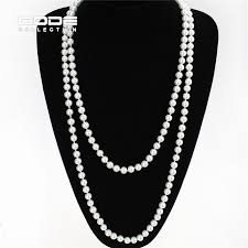 big pearl necklace wedding images 2016 vintage 10mm big imitate shiny pearl necklace fashion black jpg