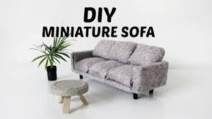 Dolls House Furniture Diy Diy Miniature Couch Sofa Mini Doll House Furniture Tutorial