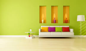indoor fresh green interior decoration living room equipped with
