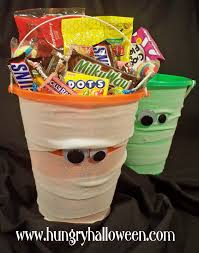 Halloween Gift Baskets Kids by Halloween Craft Mummy Bucket Hungry Happenings