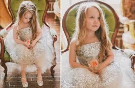 silver fringe flower dress