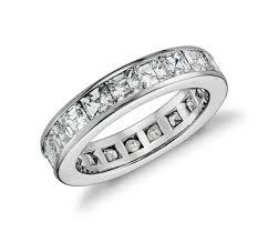 asscher cut diamond engagement rings asscher cut channel set diamond eternity ring in platinum 4 5 ct