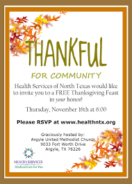 thanksgiving dinner health services of