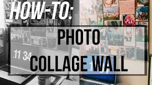 how to photo collage wall art youtube