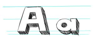 how to draw letters in 3d tutorial how to draw 3d abc blocks