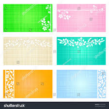 business cards mini greeting cards gift stock vector 21204826