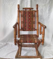 Antique Wooden Armchairs Antique Rocking Chair Childs Rocking Chair Upholstered