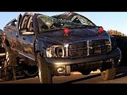 wrecked dodge trucks rollover crash wreck dodge ram truck