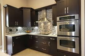 espresso kitchen cabinets kitchen modern with compac quartz