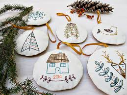 holiday ornament set pdf embroidery pattern set of 6