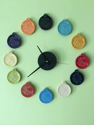 fiestaware clock made from fiestaware christmas ornaments home