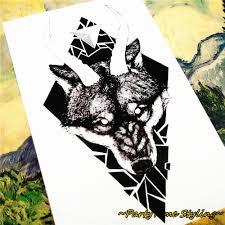 m theory wild temporary tatoos body art black thorn wolf flash