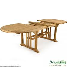 Teak Garden Table Double Extending Oval 8 10 Seater Teak Garden Table