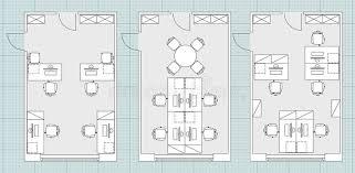 bureau standard symboles standard de meubles de bureau sur des plans d étage