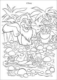 sweet simba nala coloring pages hellokids