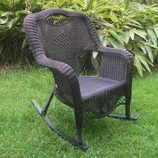 Resin Wicker Rocking Chair International Caravan San Tropez Aluminum Wicker Resin High Back