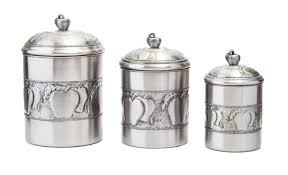 Fleur De Lis Canisters For The Kitchen by Old Dutch 3 Piece Kitchen Canister Set U0026 Reviews Wayfair
