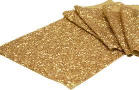 glitz sequin table runner gold cv linens