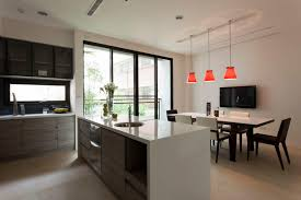 home design trendy contemporary kitchen diner dining room home
