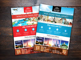 travel and tourism brochure templates free vacation travel agency flyer flyer templates creative market