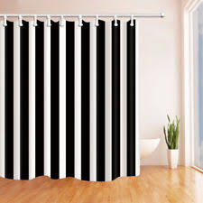 Navy And White Striped Shower Curtain Striped Shower Curtains Ebay