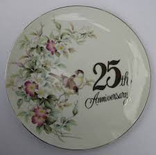 wedding gift japan vintage saji 25th silver anniversary plate 3 wedding