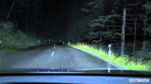 porsche headlights at night audi a8 matrix led headlights youtube