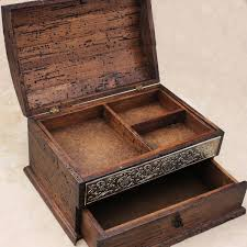 unique boxes personalized rustic jewelry box unique details and drawer