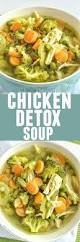 chicken detox soup together as family