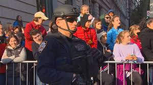 cbs thanksgiving day parade largest police detail ever at macy u0027s thanksgiving day parade cbs