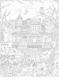 coloring page coloring pages digital download haunted