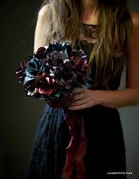 Black Rose Flower Black Rose Paper Flower Bouquet Lia Griffith