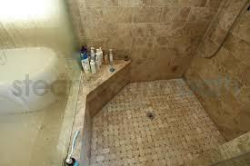 steam shower corner bench and shelf photo gallery and image