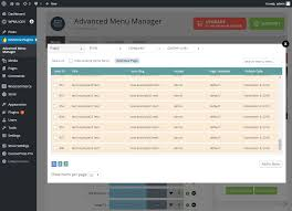 advanced menu manager u2014 wordpress plugins