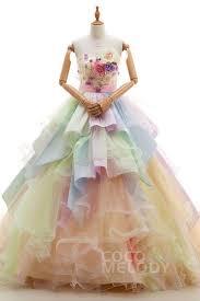 multi color wedding dress multicolor wedding dresses
