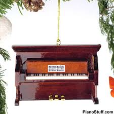 gifts piano upright brown piano ornament
